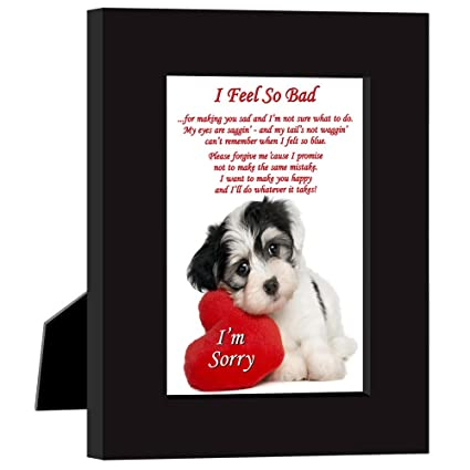 Amazon say im sorry in a cute way with this puppy and heart say im sorry in a cute way with this puppy and heart frame quot voltagebd Images