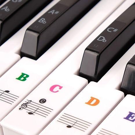 Joyfeels Store Pegatina para teclado de piano Pegatina transparente para piano y teclado con 37/