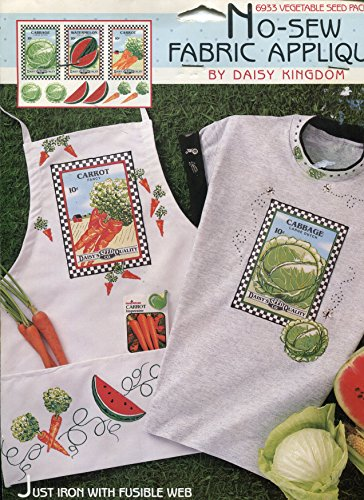 Daisy Kingdom No-Sew Fabric Applique ~ Vegetable Seed - Packet Seed Cabbage
