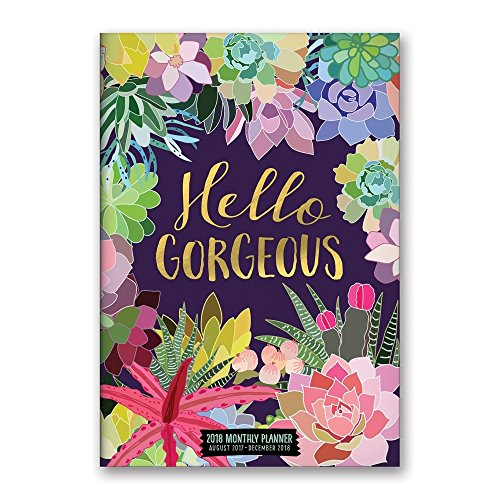 Orange Circle Studio 2018 Monthly Pocket Planner, Aug. 2017 - Dec. 2018, Hello Gorgeous Succulents