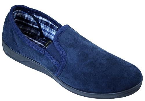 Hombre Zapatillas Ante Imitación Doble Costura Sin Cordones Espuma Viscoelástica Plantilla: Amazon.es: Zapatos y complementos