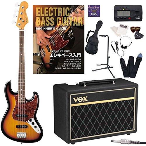 K-Garage エレキベース 初心者 ジャズベース JAZZ BASS KJB200 VOX Pathfinder Bass 10 入門13点セット オートチューナー付属 (3TS) B01F8URAIG  3TS