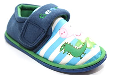 9271807fa27 Image Unavailable. Image not available for. Colour  Kids Childrens Boys  Peppa Pig George Dinosaur Slippers ...