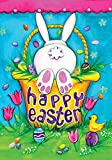 Toland - Bunny Tail - Decorative Cute Rabbit Spring Easter Holiday Basket USA-Produced Garden Flag