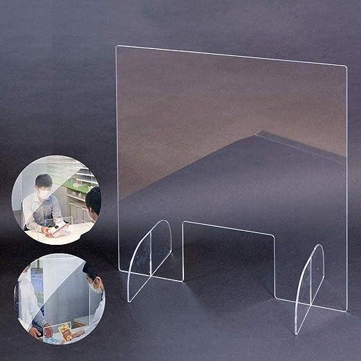 ZLofe Acryl Schutzschild,Thekenaufsteller Spuckschutz Thekenaufsatz Kasse und Witterungsbest/ändig-80x80cm Tresen und Empfang UV