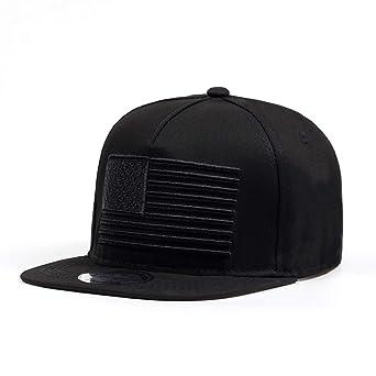 Amazon.com: Baseball Cap Mens Gorras Snapbacks 3D Flag Hat Ourdoor Hip Hop Snapback Cap Black: Clothing