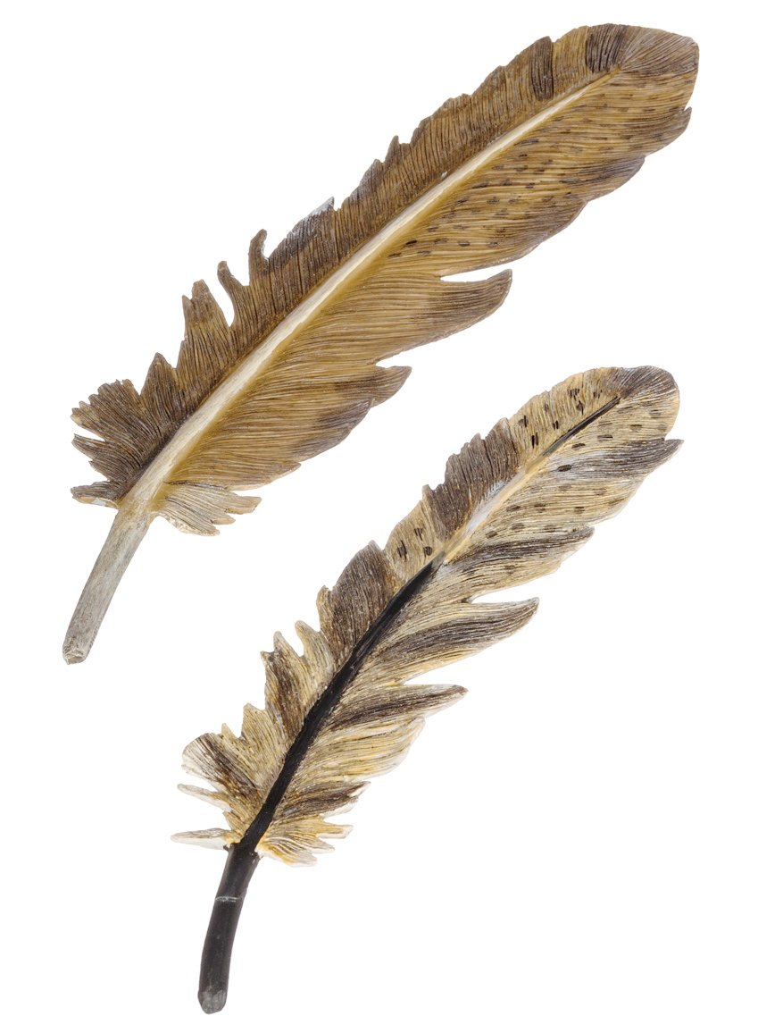 Set of 2 Assorted Sullivans 8-9.5'' Resin Feathers