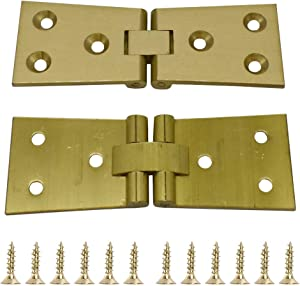 2Pcs Heavy Brass Butler Tray Hinge 180 Degree for Butler Folding Tables Furniture Table with Screws