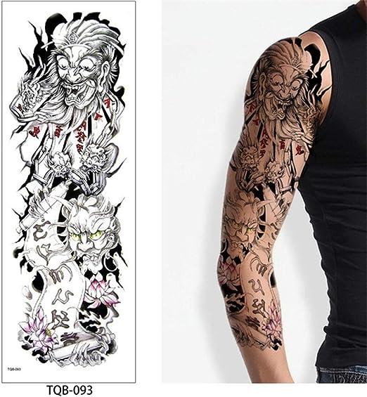 Handaxian 3 Piezas Tatuaje Completo Brazo Doble Pistola Mujer ...