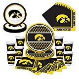 Iowa Hawkeyes Party Pack with Plates, Napkins, Cups (Serves 8)