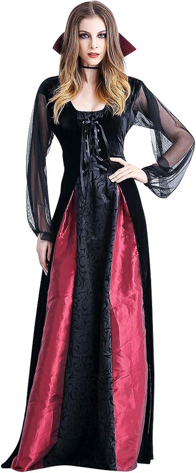 Disfraz Halloween Mujer Vampiresa Fiesta - Traje Bruja Adulto ...