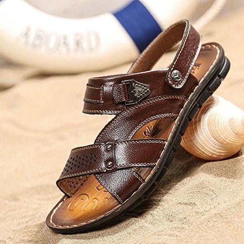 estate Il nuovo Uomini Spiaggia scarpa Uomini Tempo libero traspirante sandali moda vera pelle Spiaggia sandali ,Marrone,US=6.5,UK=6,EU=39 1/3,CN=39