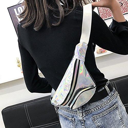 Mode Sac Ya Pack Taille Argent Sac Pouch Jian néon Fanny Voyage Bum étanche Laser Brillant Sac de Na Taille rétro wOd8Sq