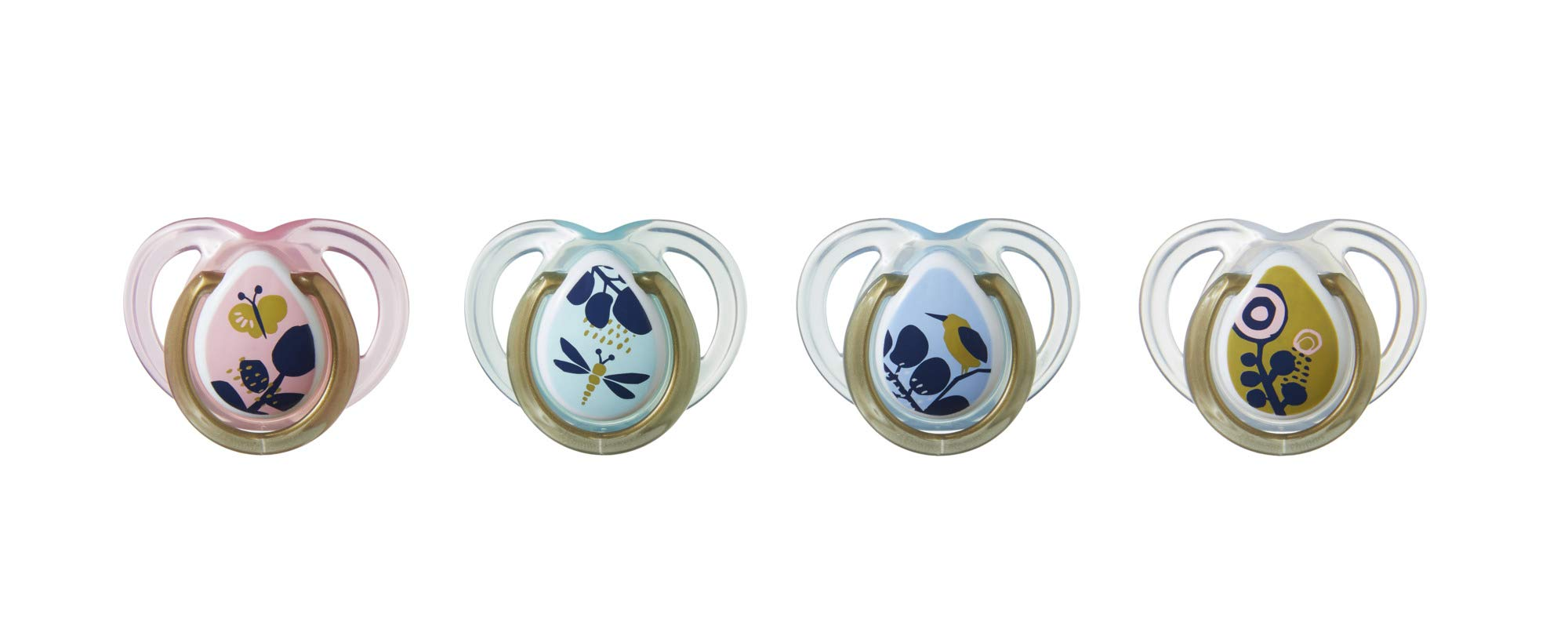 Tommee Tippee Closer to Nature Moda Baby Pacifiers 0-6 months - 4 count by Tommee Tippee