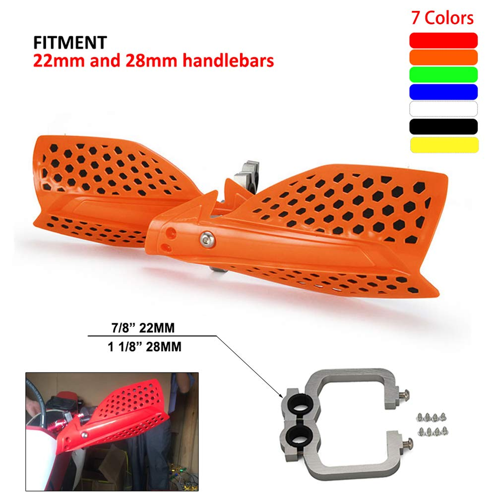 Orange Universal Motorcycle Handguards Hand Guards Dirtbike Handlebar 7//8 22mm 1 1//8 28mm For KTM EXC EXCF XC XCF XCW XCFW MX EGS SX SXF SMR 125 250 300 350 450 Motocross Motorbike