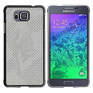 YiPhone /// Prima de resorte delgada de la cubierta del caso de Shell Armor - Pop Art Modern Raster Dots Greek - Samsung GALAXY ALPHA G850