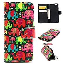 """iphone 6 plus Case, iphone 6 (5.5"""") Case, Trees Camo Durable Premium PU Leather Flip Folio Book Style Wallet Protective Skin Pouch Phone Case & Magnetic Closure with Credit/ID Card Slot (A7)"""