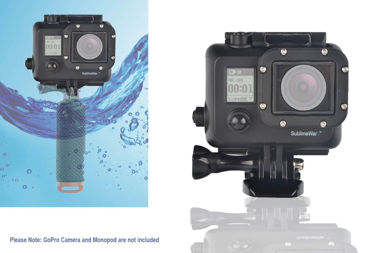 SublimeWare - Waterproof Blackout Housing Case for Gopro hero3 hero3+ hero4 action cameras Matte Black Out Concealment Underwater (30m)