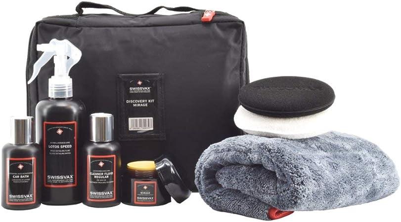 Swissvax Discovery Kit Mirage Autopflege Set Mit Premium Wachs Politur Detailer Autoshampoo Poliertuch Und Pads Auto