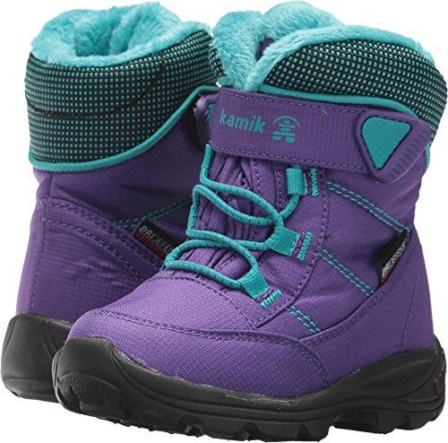 Kamik Children's Snow Boots (Kamik Girls' Stance Snow Boot, Purple/Teal, 9 Medium US Toddler)