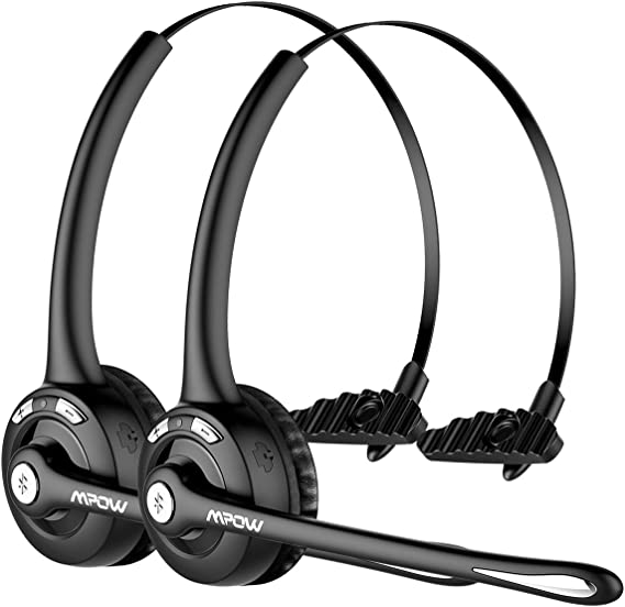 Wireless Headset with Microphone for Blueooth Office Home Phone Call Centers Over The Head Trucker Driver Headset Wireless Headphone for Cell Phone