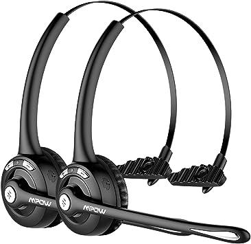 Mpow Auriculares Bluetooth de Teléfono Inalámbrico con Micrófono Manos Libres, Cancelación de Ruido, Conversación de 13 Horas, para Teléfono Fijo, Centro de Llamadas, Recepcionista: Amazon.es: Electrónica