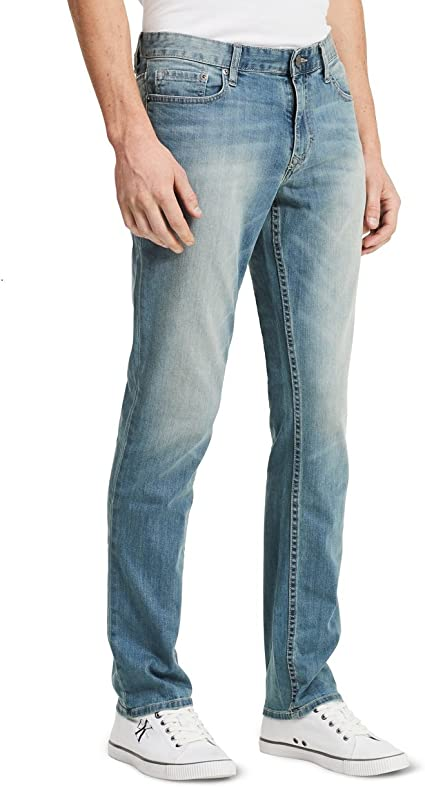 Men/'s Denim Jeans El General Color Light Blue Cotton
