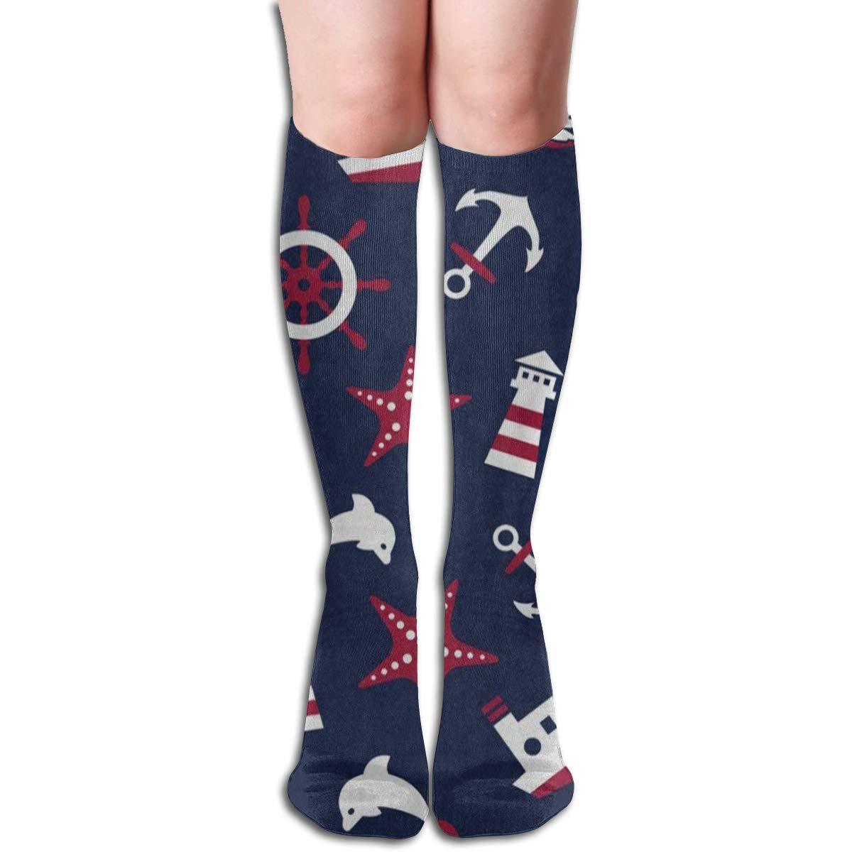 High Elasticity Girl Cotton Knee High Socks Uniform Cherry Flying Pattern Women Tube Socks