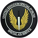 british army gear - SpaceAuto 3D PVC Rubber United Kingdom Special Forces British Army Special Air Service SAS Military Tactical Morale Desert Badge Hook Patch 3.15