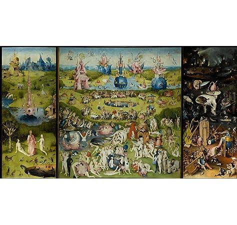 Heeii Rompecabezas de Madera de 1000 Piezas El jardín de Las delicias terrenales - (Artista: Hieronymus Bosch c. 1480) - Obra Maestra clásica: Amazon.es: Juguetes y juegos
