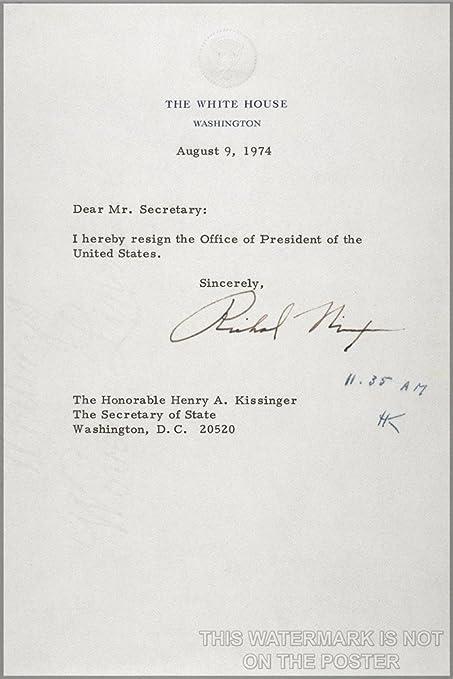 President Richard M. Nixon Resignation Letter - 24\