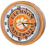 Clemson University Orange Neon Clock From Redeye Laserworks