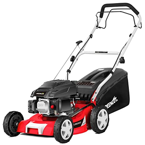 Greencut GLM690SX - Cortacésped autopropulsado con motor de gasolina de 139cc y 5cv y arranque manual Easy-start, con un ancho de corte de 407mm (o ...