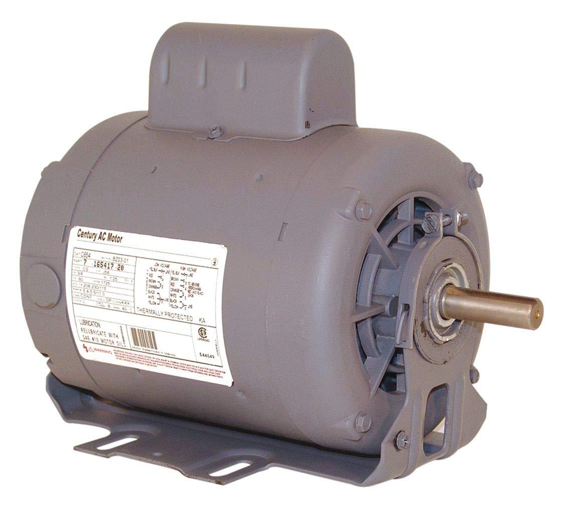 Motor, Cap St, 3/4 HP, 1725/1140, 230, 56, ODP
