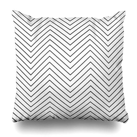 Krezy Decor - Funda de cojín con diseño de Zigzag, diseño ...