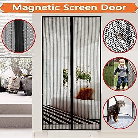 magnético Mosquitera para puerta protección contra insectos, meiso Mosquitera para puerta, Magnetic Screen Door, imán de