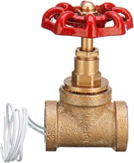 ChaRLes Vintage Steampunk 1/2 Pouce Rouge Poignée Stop Valve Interrupteur De Lumière Avec Fil Pour Lampe De Tuyau D'Eau