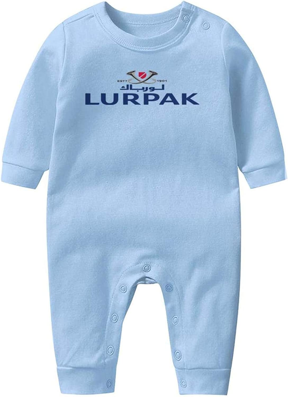 Baby Boys Girls Long Sleeve Baby Onesie Romper Jumpsuit NAKHFBVi Lurpak-Symbol
