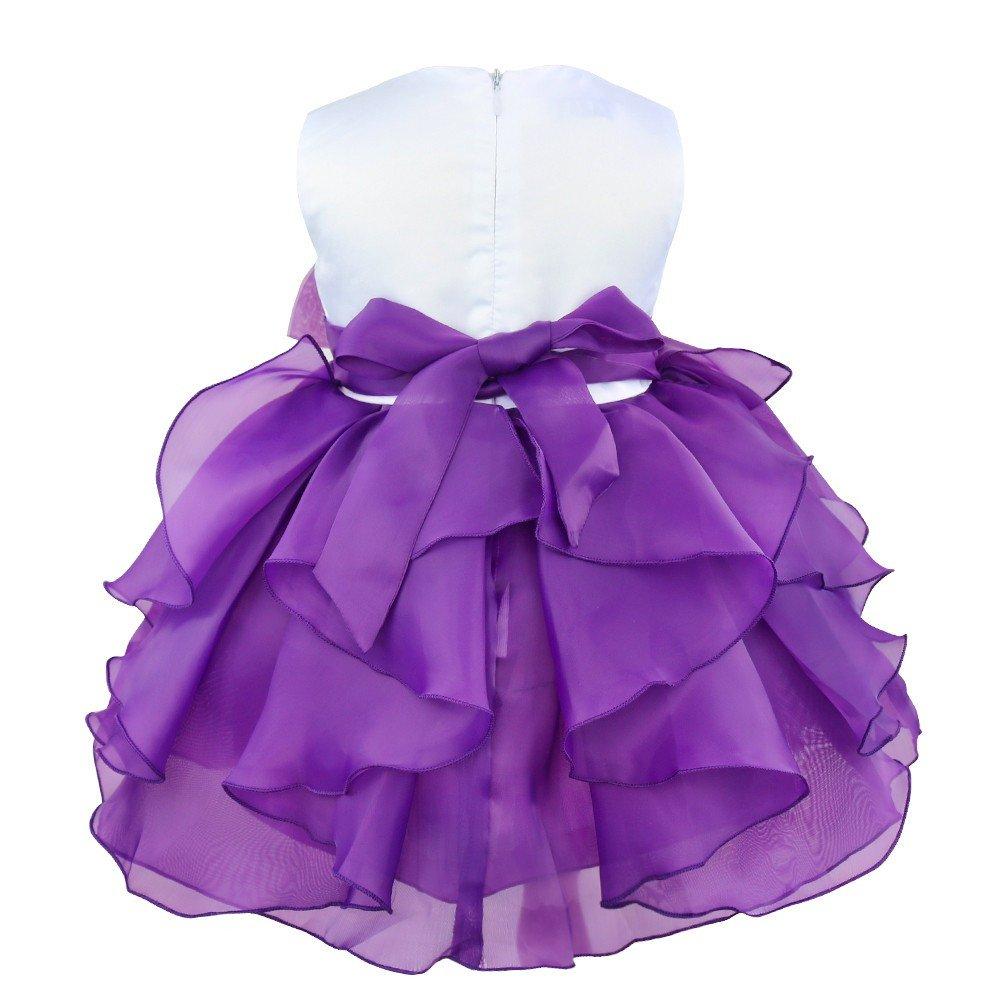 iiniim Vestido de Bébes para Bautizo Vestido de Fiesta para Niñas y Bebés 3  Meses a. Ampliar imagen d8f073c477af
