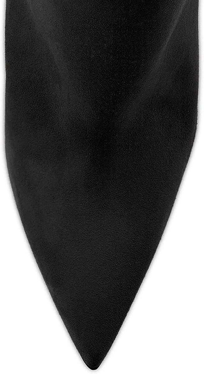 Elashe Stivaletti Donna Con Tacco|120mm Elegante Tacco Alto Blocco Suede | Classiche Inverno Nero