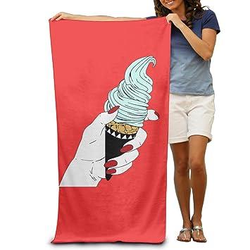 Cartoon helado toallas de mano toallas de playa hombres divertido gran playa de limpieza toalla de playa de toallas de baño: Amazon.es: Hogar