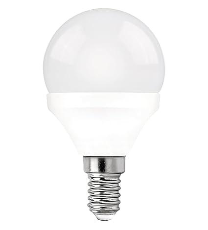Davled Pack de Bombillas LED Esféricas E14, 5 W, Blanco, 8 x 4
