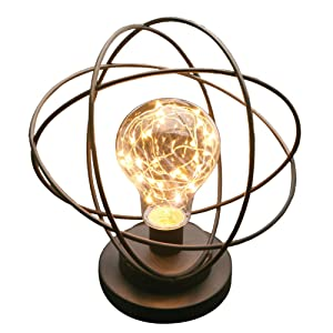 Table Desk Lamp - Atomic Age Led Metal Accent Light