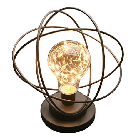 Table desk lamp atomic age led metal accent light
