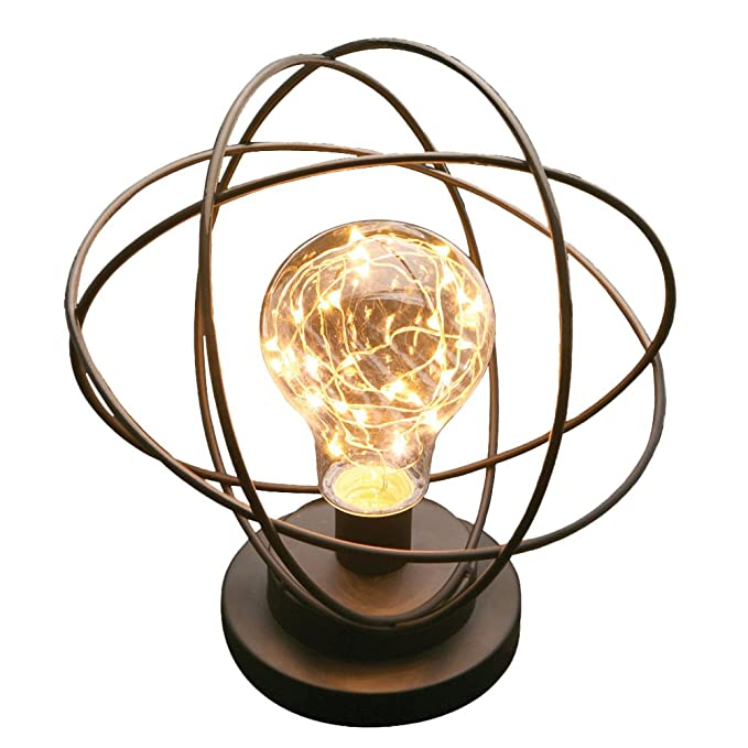 Review Table Desk Lamp - Atomic Age Led Metal Accent Light