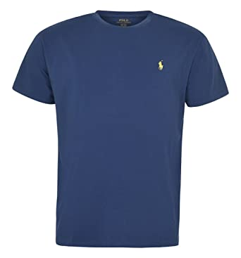 84fe13eb Image Unavailable. Image not available for. Color: Polo Ralph Lauren Men  Classic Fit Crew Neck Pony Logo T-shirt ...