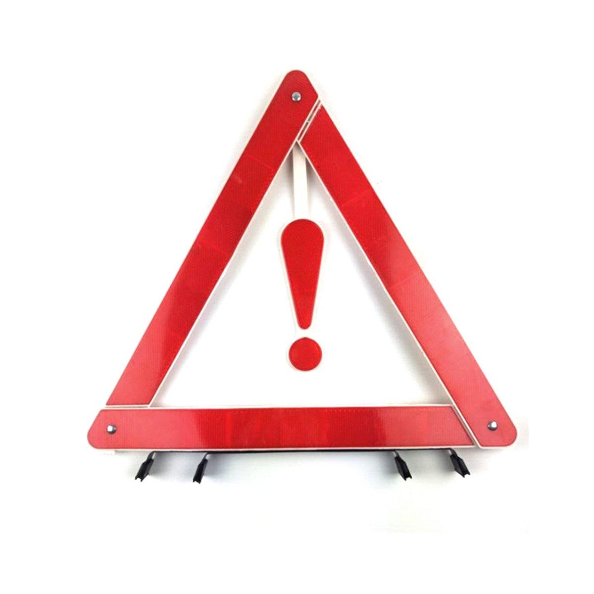 Adesugata Triangle de signalisation Sign–-- Rouge Highway pliable réfléchissant Hazard Triangle de signalisation de sécurité point d'exclamation Sign