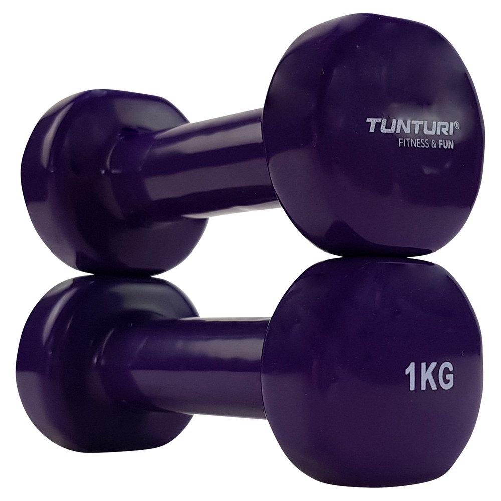 Tunturi 14TUSFU109 Mancuernas, Unisex Adulto, Morado, 1 kg: Amazon.es: Deportes y aire libre