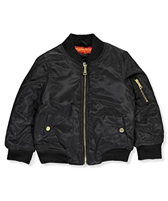 Twenty/Twenty Little Girls' Toddler Flight Jacket - black, 4t ...