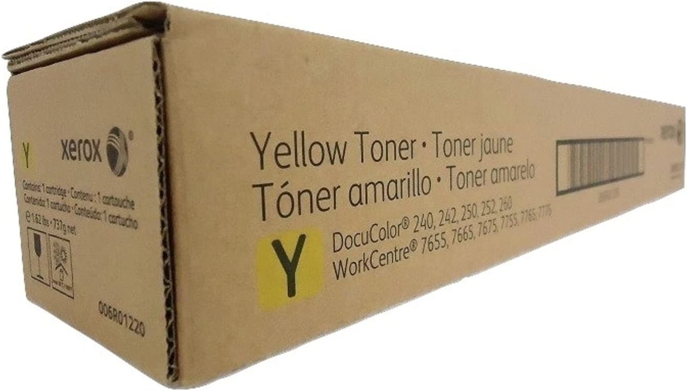 006R01220 Yellow 34000 Page Yield Toner Cartridge for DocuColor Printers 240 250 7655 7665 61WEK3blb0L